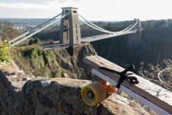 penny board / Clifton Suspension bridge, Bristol